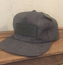 NEW RVCA Off Set 5 Panel Spell out Leather Strap Hat Adjustable