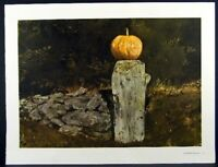 Andrew Wyeth Gravure Print GEORGE'S PLACE & CHAMBERED NAUTILUS, The Farm