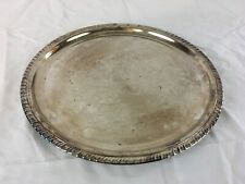 12 - 1/2 Inch Silver Plate with Floral Pattern Raimon