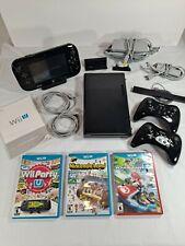 Wii U 32GB Deluxe Console Set Bundle Gamepad Pro Controllers Games + Mario Kart