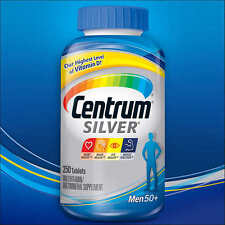 250 Centrum SILVER MEN 50 Plus Mutivitamin Multimineral Mens 50+ 250 Tablets