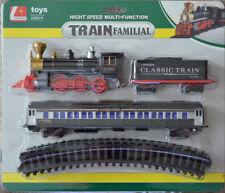 Eisenbahn Schnellzug Set Train Lok Lokomotive Waggons Schienen Elektrische
