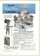 1956 PAPER AD Horsman Dolls Peggy Petite Store Display Revolving Merchandising