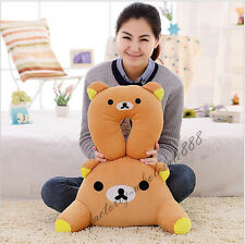 Rilakkuma San-X Bear U-shaped Pillow + Waist Cushion Car Office Travel Pillow g