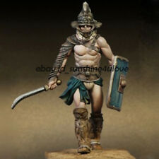 1/24 Scale Unpainted Garage Kit 75mm Roman Thracian Gladiator Resin Figure Model
