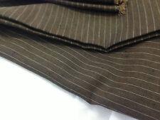 coupon de tissu  pur  lin tennis  marron foncé  : 3.00 m ; Ref  mag  sthpant