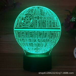 Decor Night Light LED 3D Illusion 7 Colors USB Table Desk Lamp Gift Touch Switch