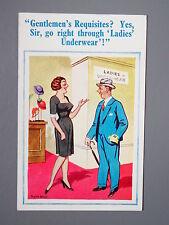 R&L Comic Postcard: Donald McGill/ D Constance 1830 Shop Assistant/Underwear