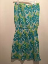 UK 10 NEW LOOK GREEN/WHITE DRESS SUMMER/HOLIDAY/TOWIE/BEACH/CHELSEA/FESTIVAL