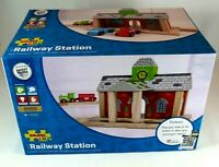 Wood Railway Station Toy Bigjigs ages 3+ NEW