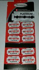 50 Israeli Red Personna Platinum Stainless Steel Double Edge Razor Blades