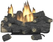 30 in. Vent-Free Natural Gas Fireplace Logs Remote Control Insert Heat Shut-Off
