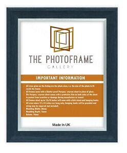 Flat Profile Black/Black, Black/Silver, White/Silver, Edge Picture Photo Frames