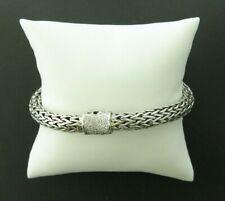 "John Hardy Sterling Silver Classic Chain Diamond Bracelet - 7.5"" Length"