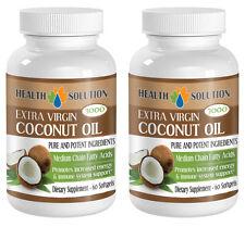 Fat Burner - Coconut Oil Capsules - Slimming Pills - 2 Bottles 120 Softgels