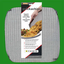 Quickachips Non Stick Chip Mesh Basket Tray Quick Oven Chips Fries, Garlic Bread
