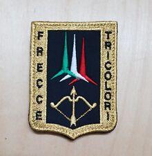 FRECCE TRICOLORI con VELCRO cucito - PATCH TOPPA ricamata - ORO - 6,7 cm x 9 cm
