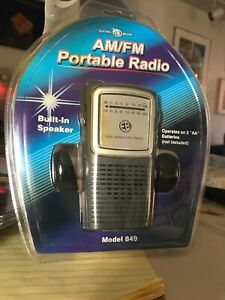 New Electro Brand Portable AM/FM Radio with Built in Speaker Model 849