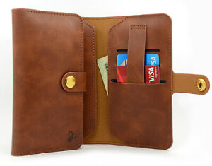 For AT&T Maestro (U202AA) PU Leather Flip Fold Card ID Wallet Pouch Case Cover