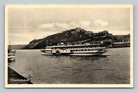 Ehrenbreitstein Fortress, Boats, Vintage Germany Postcard