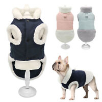 Small Dog Coats for Winter with Leash Ring Warm Fleece Pet Jacket Clothes Yorkie
