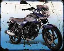 Bajaj Discover 125 05 01 A4 Metal Sign moto antigua añejada De