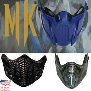 Xcoser Mortal Kombat11 Noob Saibot Sub-Zero Cosplay Resin Mask Game Helmet 3Type