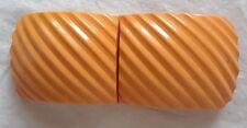 Very Rare Carved Bakelite Belt Buckle Cream Corn Carved Bakelite Belt Buckle
