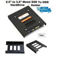 "2.5"" To 3.5"" SSD HDD Metal Adapter Mounting Bracket Hard Drive Holder For PC  UP"