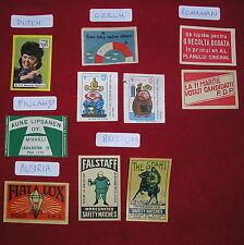 Matchbox Paper Labels - Belgium, Austria, Holland, Finland, Czech & Romania
