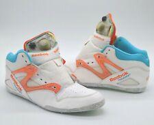 Parts Shoe/Restoration Reebok Pump Omni Lite White/Orange Blue sz 10 Rare Retro