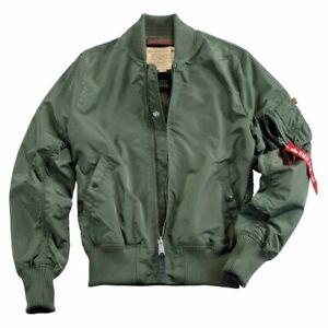Alpha Industries MA-1 TT  Pilotenjacke Bomberjacke sage-green men