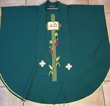 Chasuble Vestment W/Stole Elaborate Details Hand Embroidered Gold