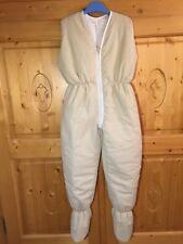 Winter Schlafsack mit Beinen Overall 122/128 NEU Vichy braun