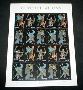 Complete Sheet of 20 (37¢) Constellations Stamps