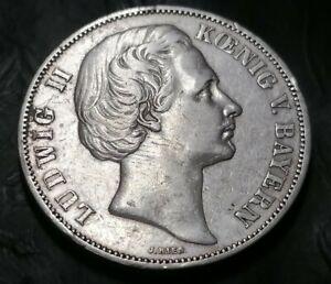 1871 - Ludwig II. - Koenig von Bayern - Vereinsthaler - XXX Ein Pfund Fein