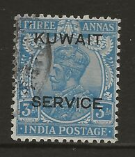 KUWAIT  SG 019  1929/33 WATERMARK MULTIPLE STARS 3a OFFICIAL  USED