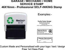 Garage Mechanics Rubber Stamp Self Inking Excellent Service & History - 45x16mm