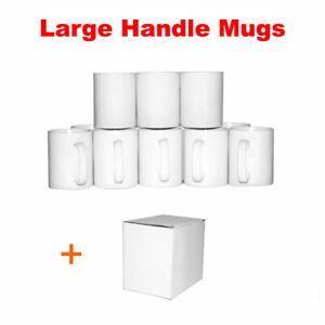 Sublimation Mugs 11oz 36 White Large Handle ORCA Coated Heat Press +Gift Boxes!!