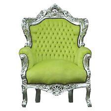 antike Sessel Im barock Design MODELL Farbe hellgrün