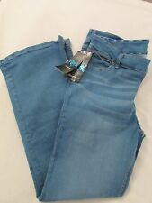 "Ladies ""Rock 47"" by Wrangler, Size 32x34, Med Blue, Flare Leg Jeans, MSRP $88"