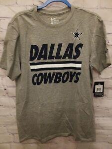 Dallas Cowboys Team Stripe Nike Unisex Adult / Mens T-Shirt Large Brand NEW