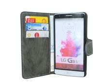 Style Livre Étui de Portable Pochette Accessoires Anthracite pour LG G3 Mini @