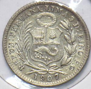 Peru 1907 1/10 Dinero Lamaa animal 293392 combine shipping