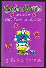 Bottom Burps And Other Deep Poems About Life Purple Ronnie Boxtree 2000 Hardback