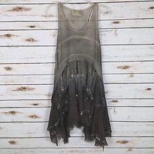 AllSaints Womens Eider Tunic Top Silk Embellished Sleeveless *READ* Size 8