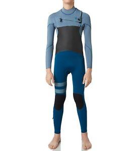 HURLEY Youth 3/2 ADVANTAGE PLUS CZ Wetsuit - Blue - Size 10 - NWT