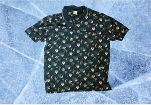VINTAGE Disney Store GOOFY Bowling Button Down Shirt Men's L Embroidered