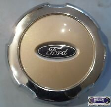 "05-08, FORD, F150, USED CENTER CAP, ARIZONA BEIGE, BLUE LOGO, 7-3/4"" DIA. 3559b"