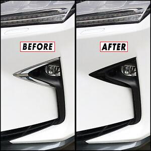 Chrome Delete Blackout Overlay for 2016-19 Lexus RX Fog Light Trim